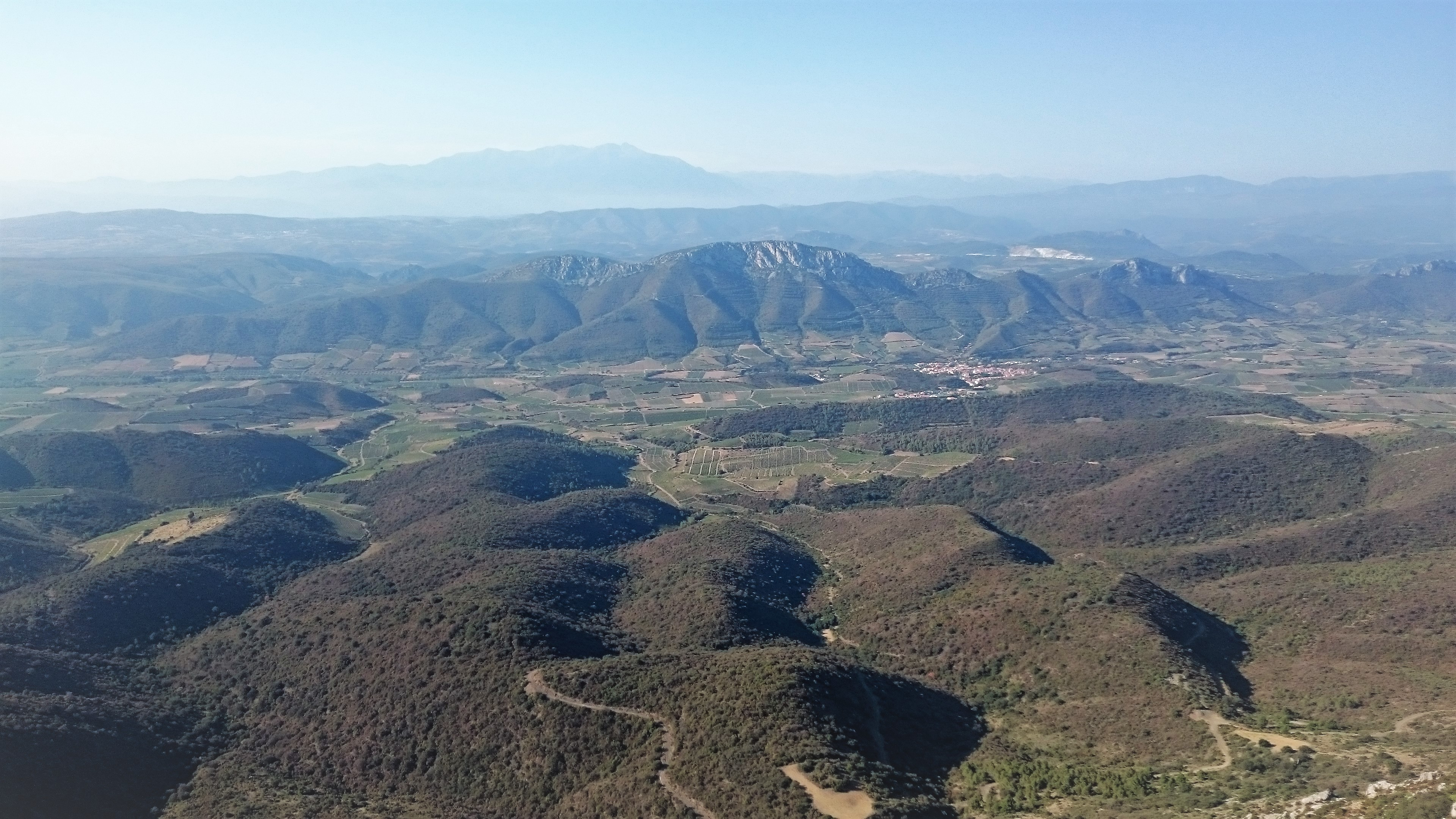The land side of the Eastern Pyrenees